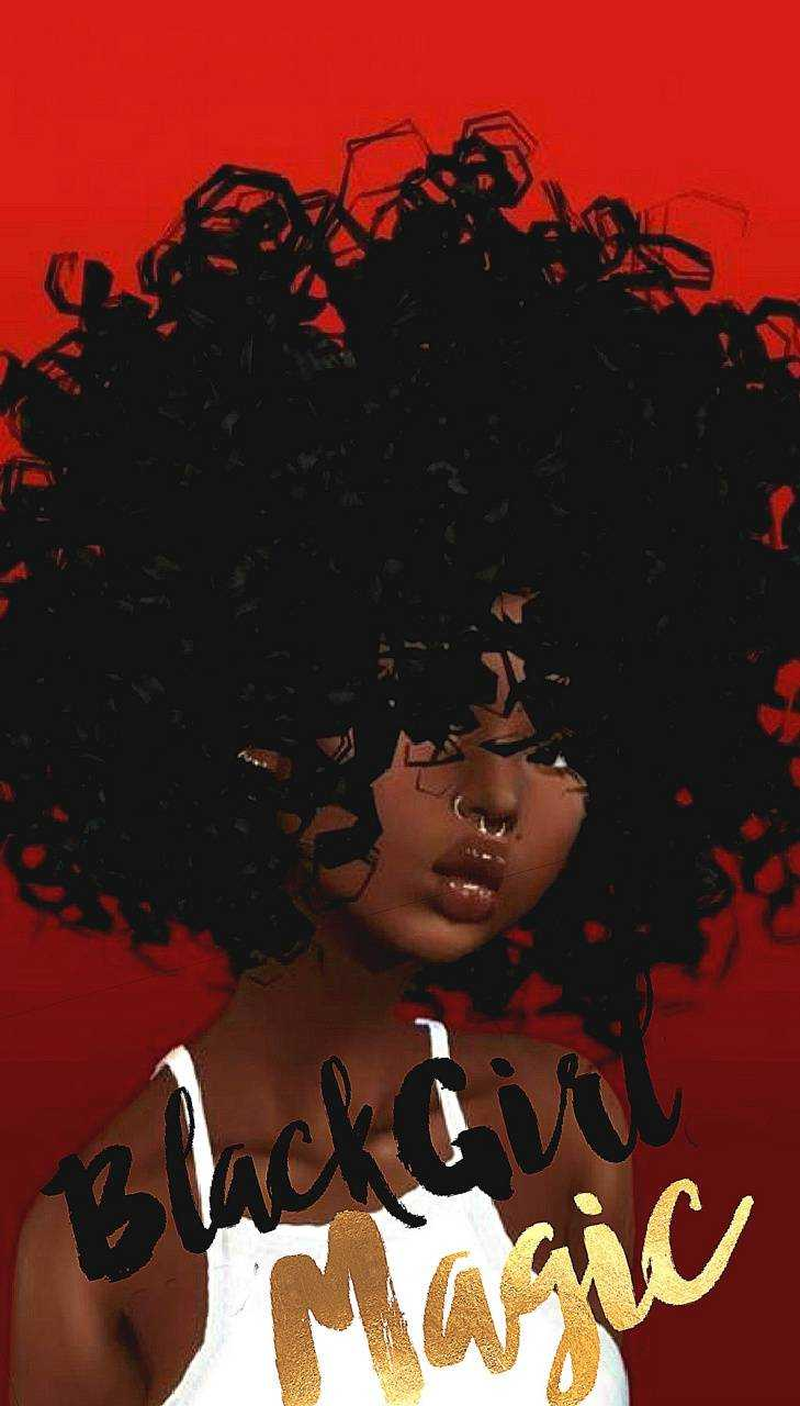 Wallpaper with afro black girl Best 55+