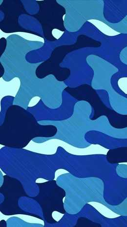 Blue Camouflage Wallpaper