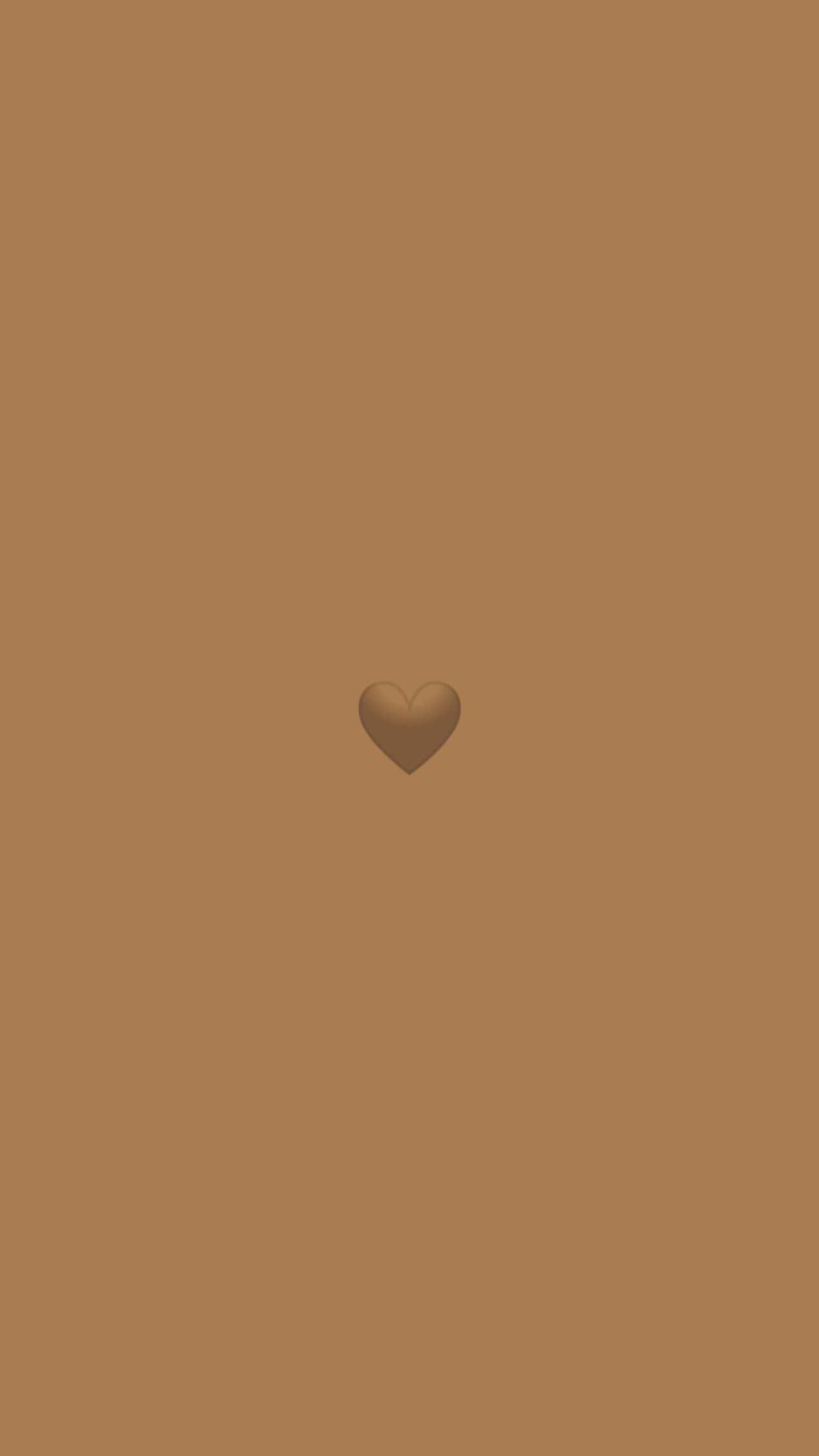 Brown Heart Wallpaper - NawPic