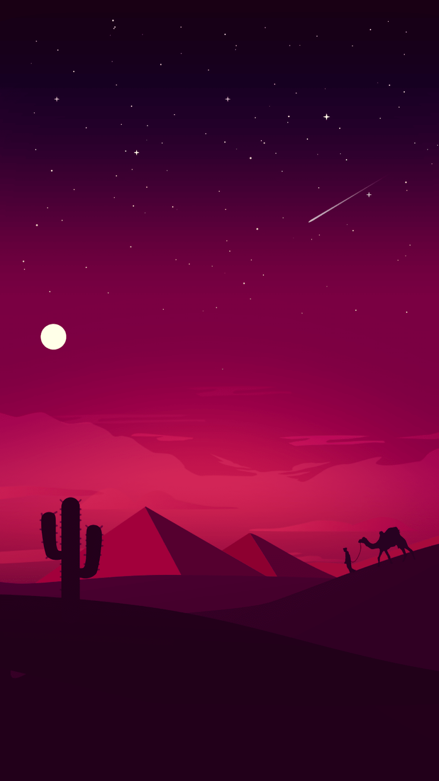 Desert Night Wallpaper