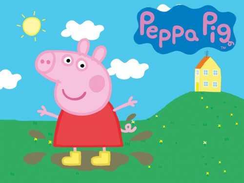 Peppa Pig House Papel De Parede - NawPic