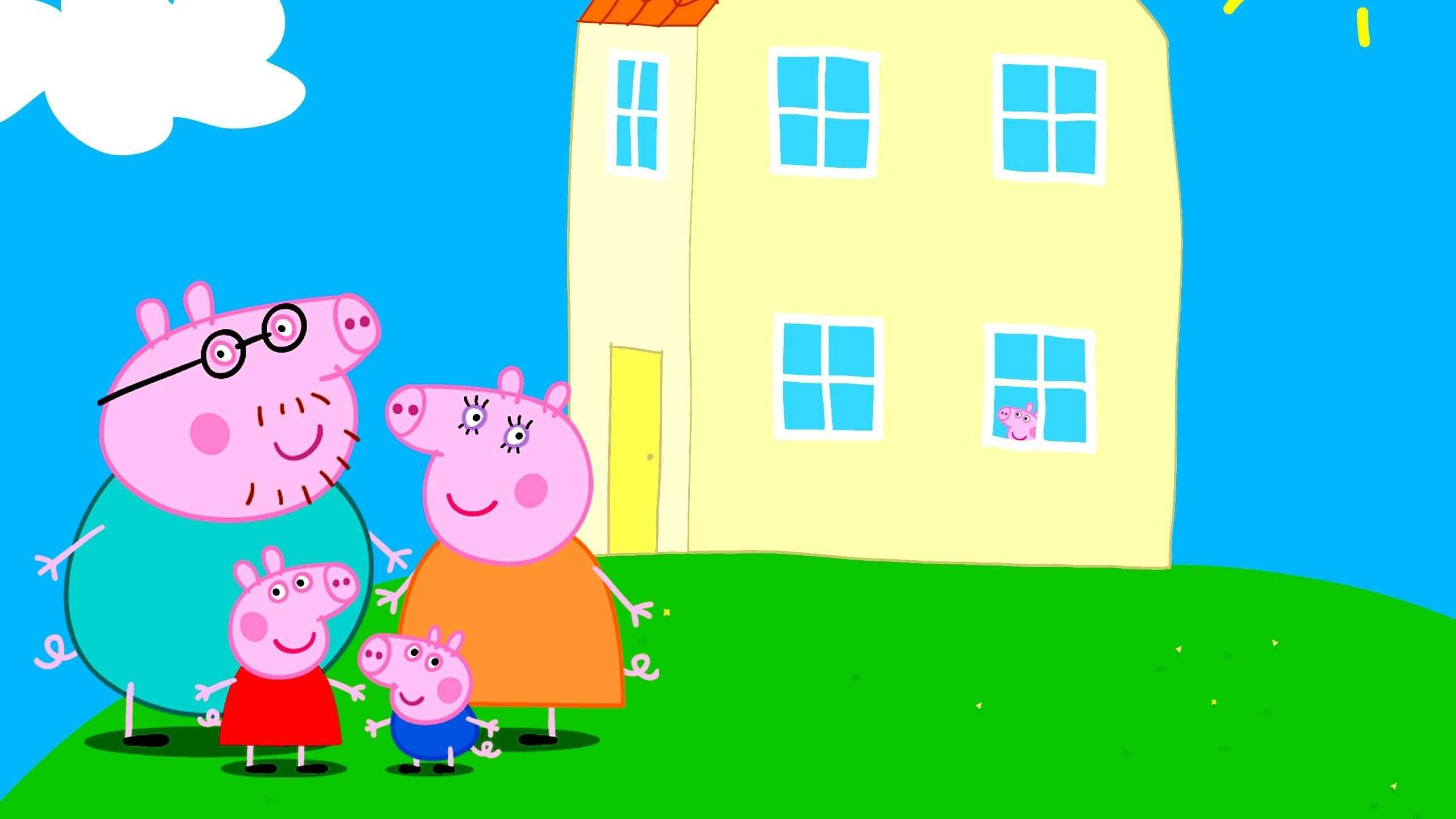 Peppa Pig House Wallpaper