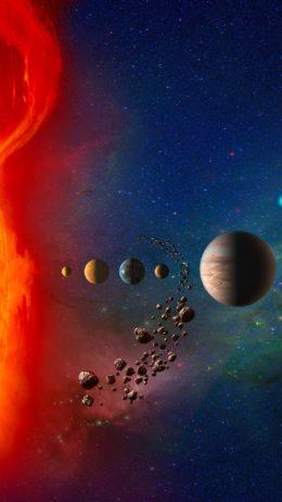 Solar System Hintergrundbild