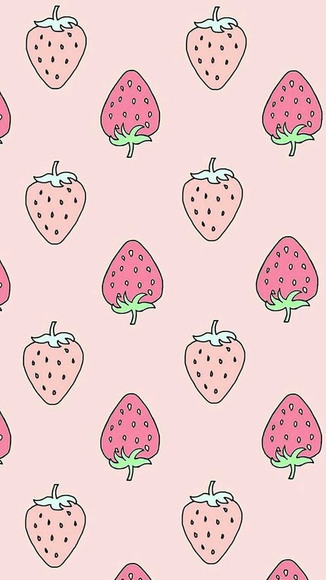 Strawberry Cow Aesthetic Background